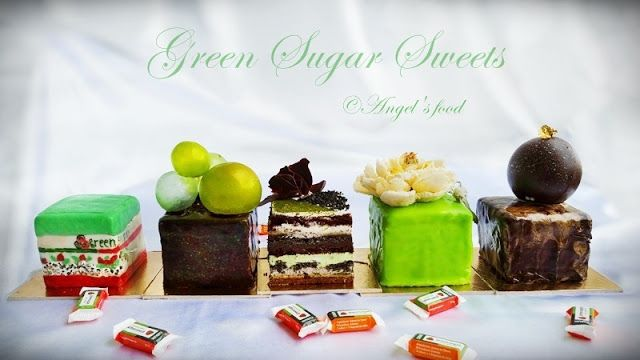Angel's food: Tort Green Sugar, compus din blat cu susan negru, ...