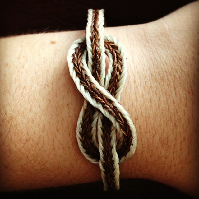 Infinity Horse Hair Bracelet- I want to make this from my horse's tail hair.