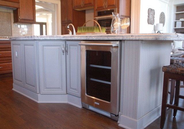 Custom Built In Wine Cooler In Kitchen Center Island By 3