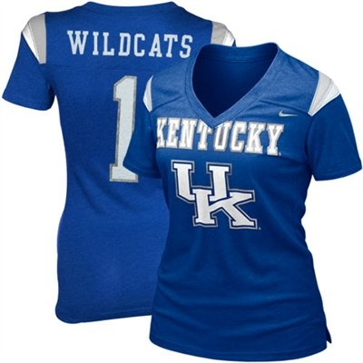Nike Kentucky Wildcats Ladies Replica Football Premium T-shirt - Royal Blue