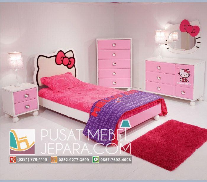 set-kamar-tidur-anak-perempuan-model-hello-kitty