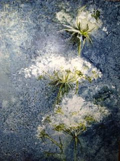 QUEEN ANNES LACE 6x9inches Watercolor on YUPO by Katrina Jones I know, I know! I love Queen Anne's Lace.