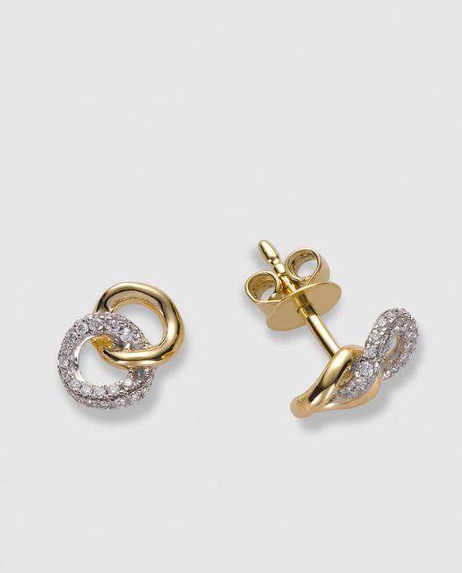 1b1744caea66 Pendientes Pequeños Tesoros en oro amarillo y diamantes El Corte Inglés