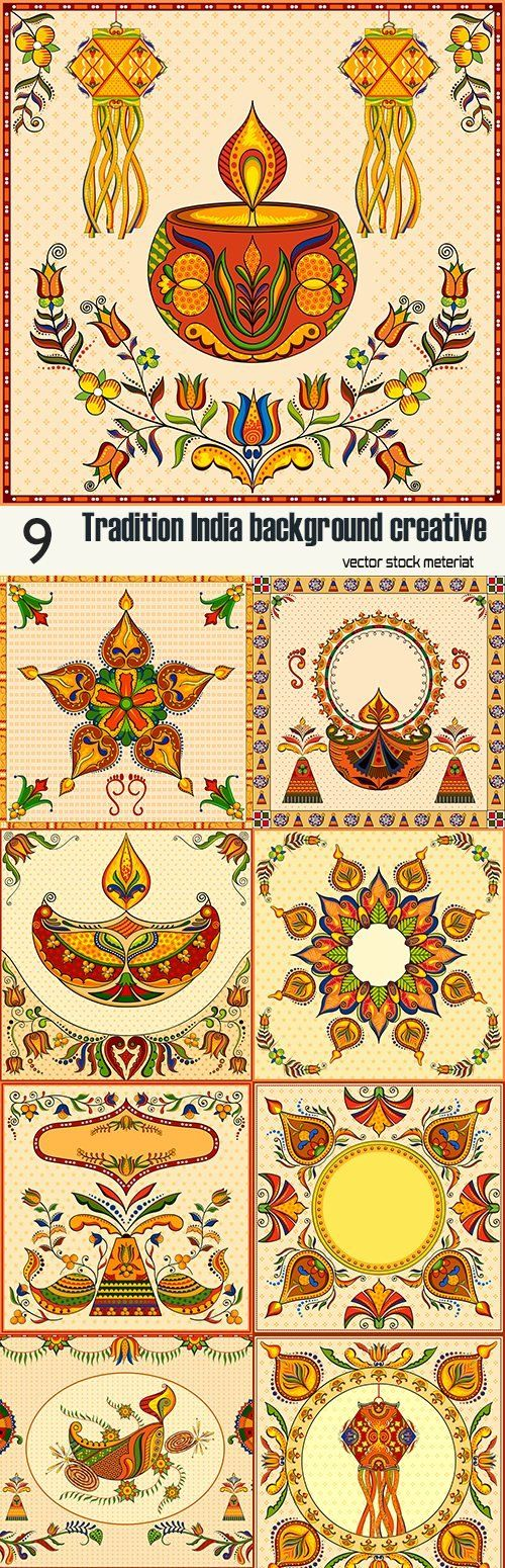 Tradition India background creative