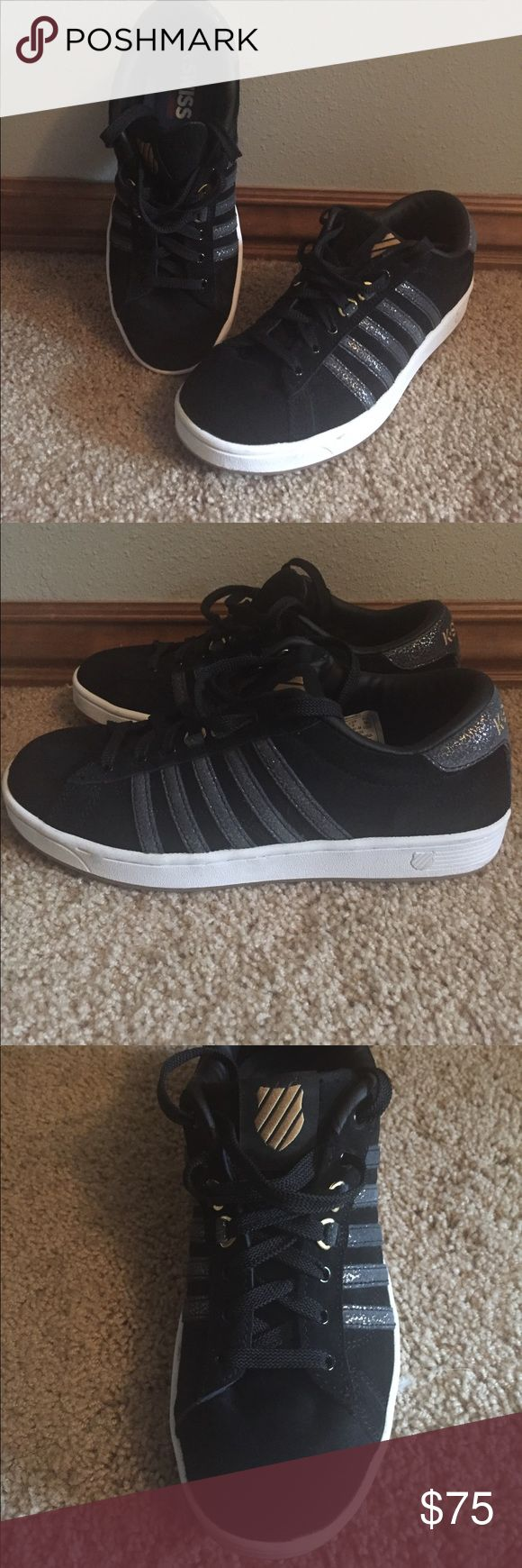 NEW Women's K Swiss Shoes Only worn once! Very comfortable shoe with unique accented design! Willing to consider any offers! K-Swiss Shoes Sneakers