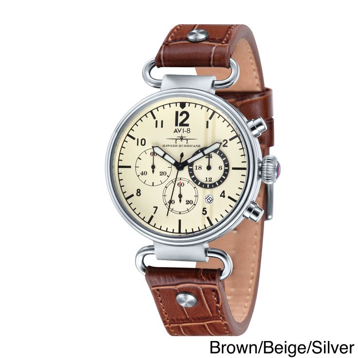 AVI-8 Men's 'Hawker Hurricane' Strap Chronograph Watch