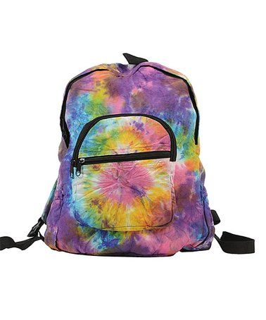 Another great find on #zulily! Pink & Purple Tie-Dye Backpack #zulilyfinds