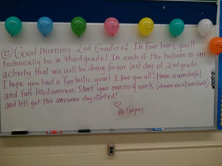 I love this idea for the last day of school - image only