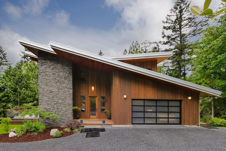 Best Angled Roof Line Exterior Midcentury With Covered Patio 400 x 300
