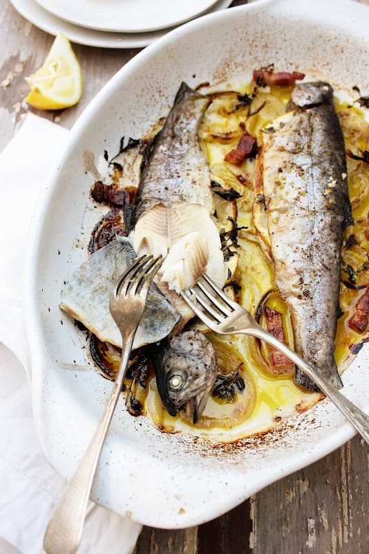 Sumac, marjoram and lemon trout