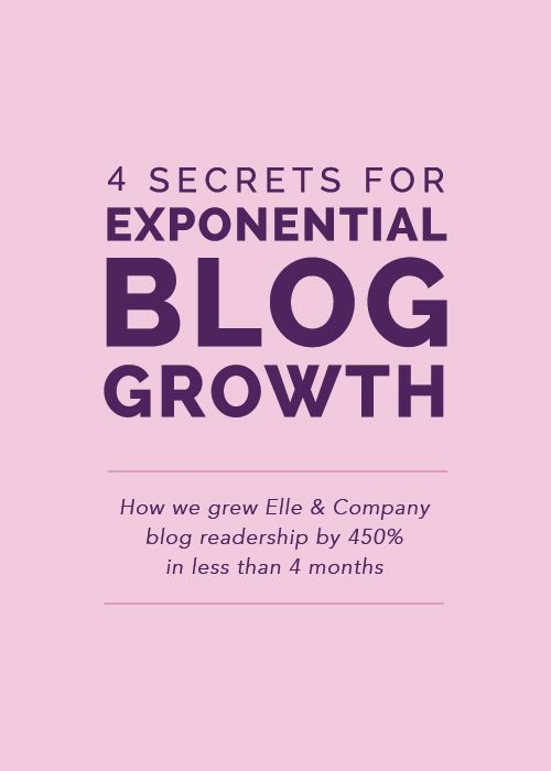 4 Secrets for Exponential Blog Growth - Elle & Company