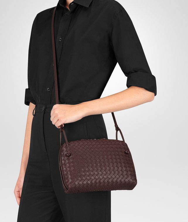 BOTTEGA VENETA DARK BAROLO INTRECCIATO NAPPA NODINI BAG Crossbody bag Woman  fp 73b8928c1ab44