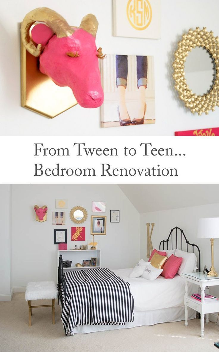 From Tween to Teen: Bedroom Renovation. Decorating Ideas for a Girl's Bedroo...