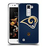 Official NFL Football Los Angeles Rams Logo Soft Gel Case for LG K8 / Phoenix 2
