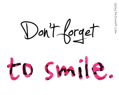 Don't forget to.....