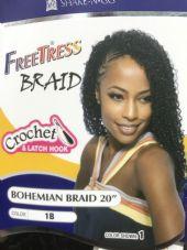 """FREETRESS BOHEMIAN BRAID CROCHET AND LATCH HOOK 20"""""""