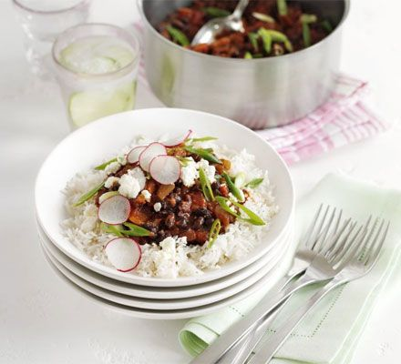 This chilli is great for casual entertaining - just lay everything out and let people add their own toppings