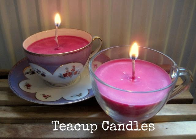 DIY Tutorial: Teacup Candles