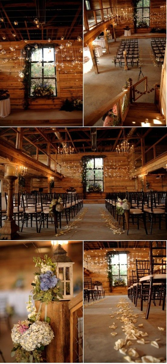 rugged interior wedding.. love.