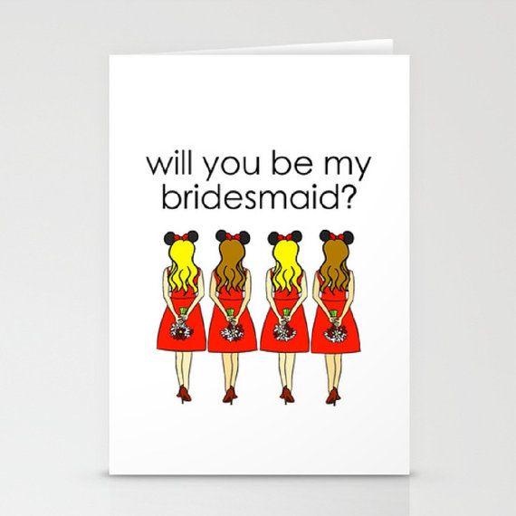 PRINTABLE: Disney Bridesmaid Proposal Card  Blank by CozyReverie
