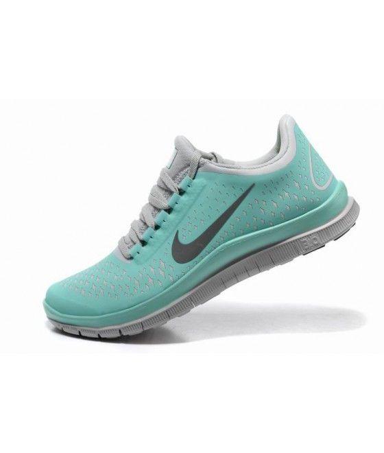 jeu rabais rabais exclusif Nike Free 3.0 V4 Femmes Chaussures De Course - Vert Menthe / Basket-ball Gris pas cher 2014 professionnel à vendre kVpIQCb