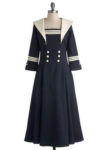 Seven Seas Dress, #ModCloth I love the Edwardian vibe this dress has. Definitely makes me think WWI.