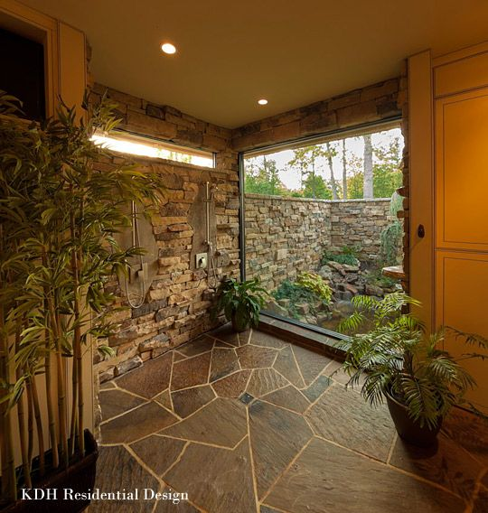 Best Photo Gallery Websites Master Shower Water Garden tropical bathroom charlotte McSpadden Custom Homes