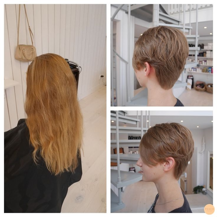 Short hair before and after