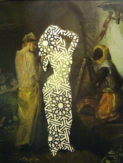 Sousan Luqman - Exotic Transfigurations 'Chasseriau Transfigured' 42cm x 36cm