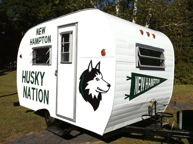 New Hampton School Husky Nation tailgating tailgate trailer