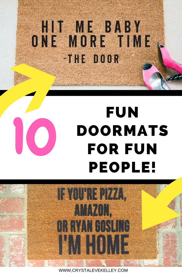 10 Fun Doormats for Fun People