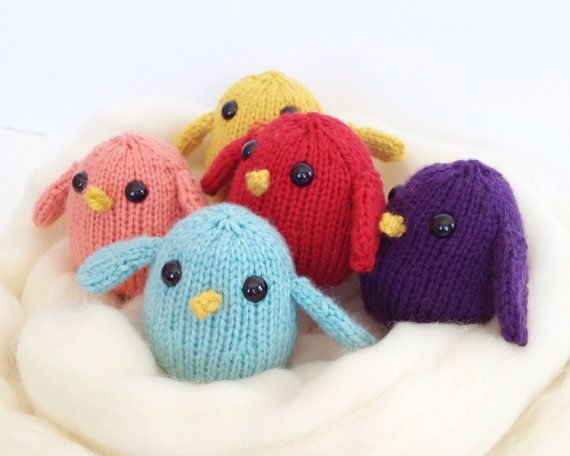 Toy Chick Baby Bird  Set of 5  Made to Order by NestingMagpie, $45.00
