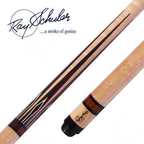 The Schuler CB8 3-Cushion billiard cue features a Birdseye Maple forearm with…