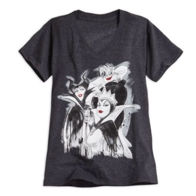 From Maleficent to Ursula to The Evil Queen. This T-shirt is bad to the bone…