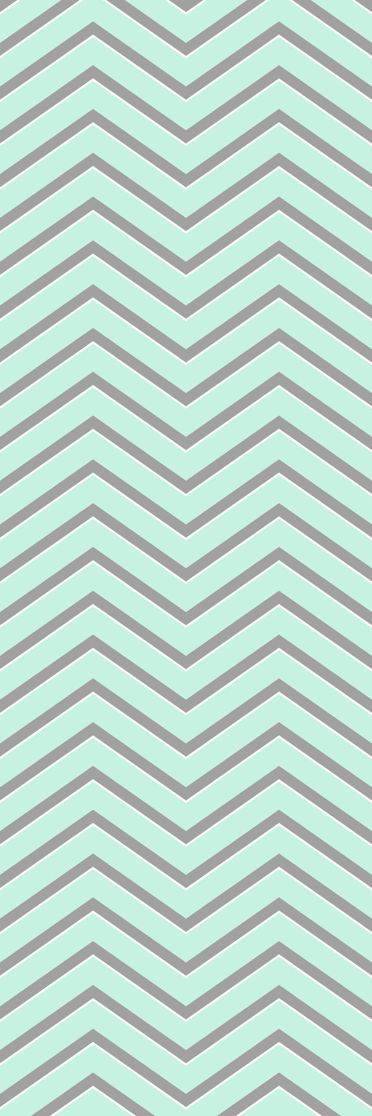 Custom printed Chevron wallpaper from the 'ROBIN' colour range #chevron #wallpaper #muurgraphics