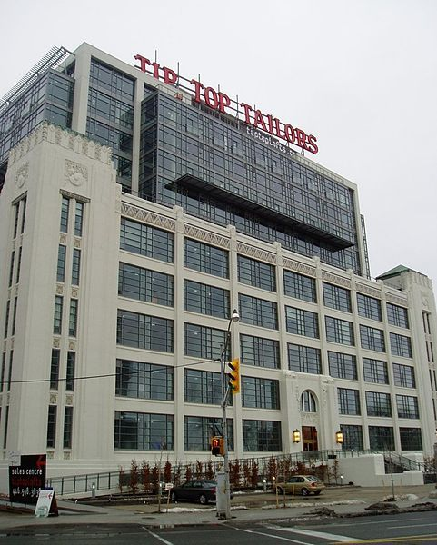 Iconic Tip Top Tailors building on Lakeshore Drive, Toronto