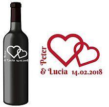 Darčeky pre svadobčanov - Svadobná etiketa Rita - Vyrezávané etikety, Svadobné etikety, Etikety na víno, Vinylové etikety, Etikety na fľaše, Nálepky na víno - 7403773_