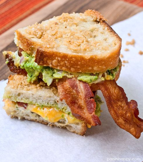 Guacamole Grilled Cheese with Bacon.