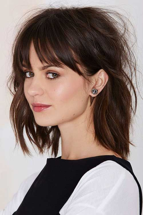 Perfect Long Bob Haircut with Bangs