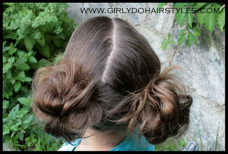 Girly Do Hairstyles: By Jenn: Our Big Messy Bun - Genius!