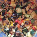 Torta filante di verdure e mozzarella