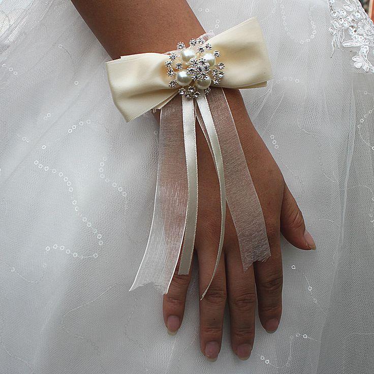 Bruiloft Decoratie Pols Corsages Voor Bruiloft Hand Bloem Boeket Brides Bruidsmeisje Evenement Levert Romantische Witte Bloemen