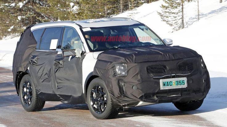 Kia, Hyundai testing big crossovers, and one looks like the Telluride