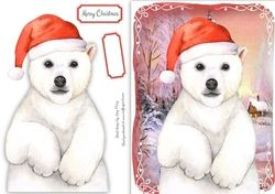 Festive Polar Bear on Craftsuprint - View Now!