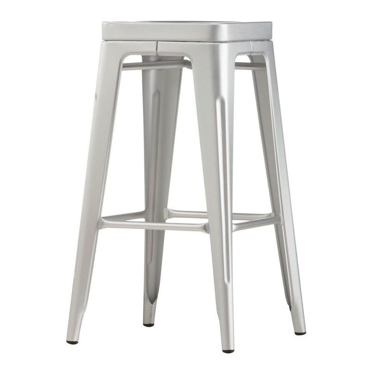 Garden 30 in. H Brush Aluminum Backless Bar Height Stool