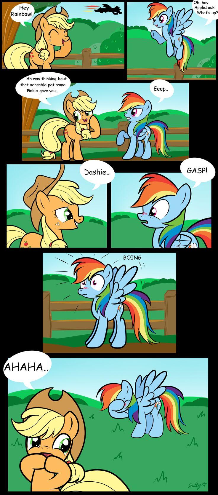 Rainbow Dash and AppleJack by SmittyG.deviantart.com on @deviantART