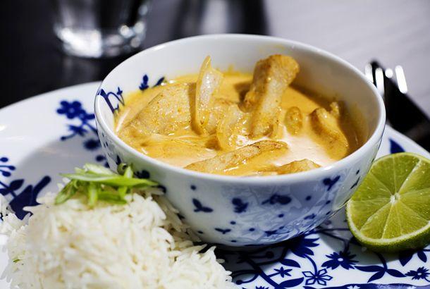 Kokoskyckling med ris | Recept.nu