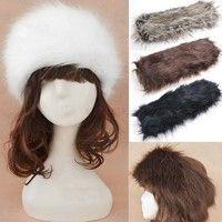 Wish | New Women Russian Winter Plush Faux Fur Headband Hat Ear Warmer Ear Muff Ski Cap SV006044 Apparel & Accessories