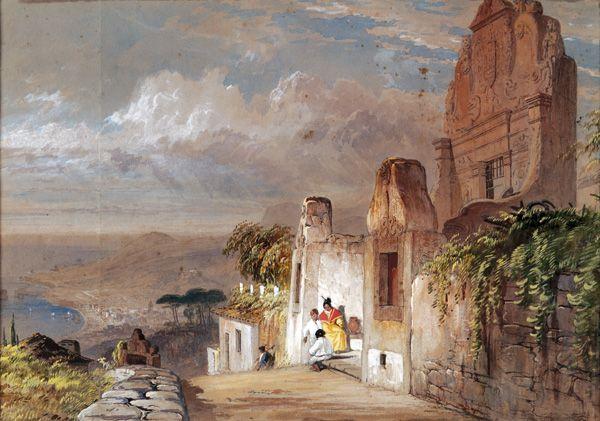 """Gate of """"Quinta dos Jesuítas"""", Funchal, ca. 1840"""