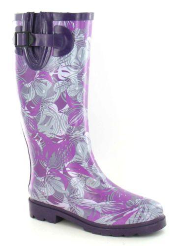 034-SALE-034-Ladies-Fashion-Wellingtons-with-Floral-Design-Print-1163